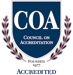 Logo for the Council on Accreditation also known as COA